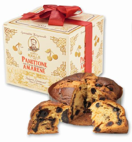 R3064: PANETTONE WITH BALSAMIC FILLING and SOUR CHERRIES 750g