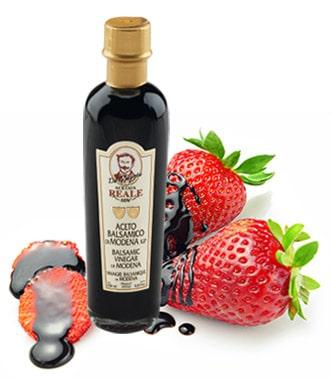 Aceto balsamico con fragole